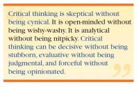 Facione: Critical Thinking Is Quote